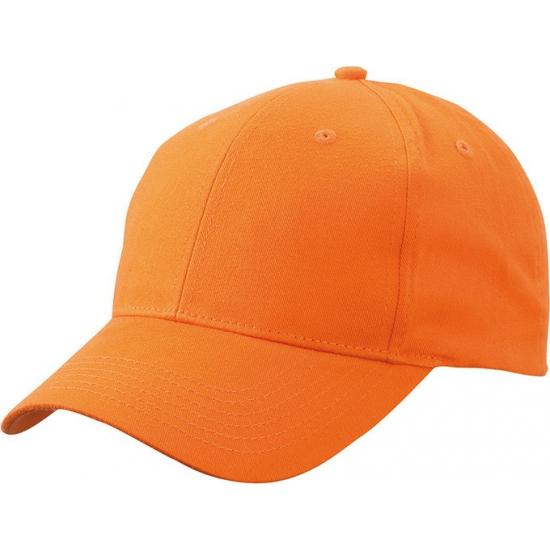 6 paneels baseball cap oranje