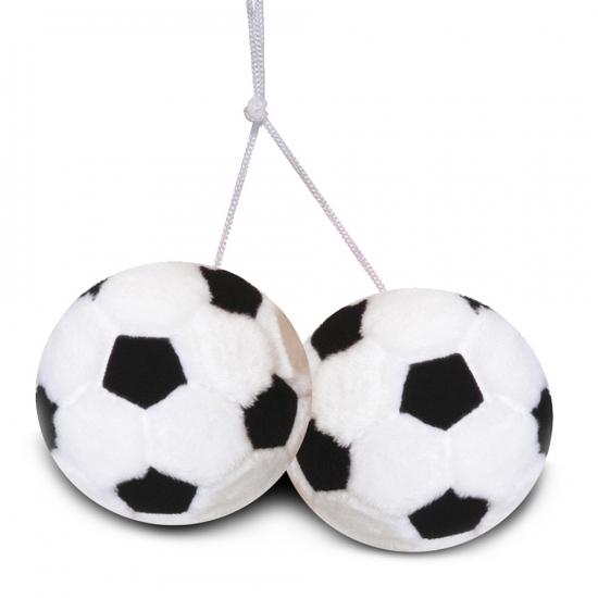 Autospiegel voetballetjes