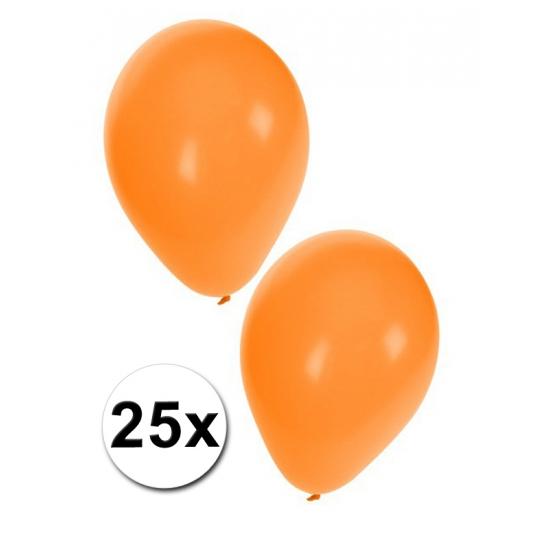Ballonnen oranje 25 stuks