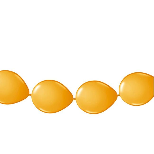 Ballonnen slinger oranje 3 meter
