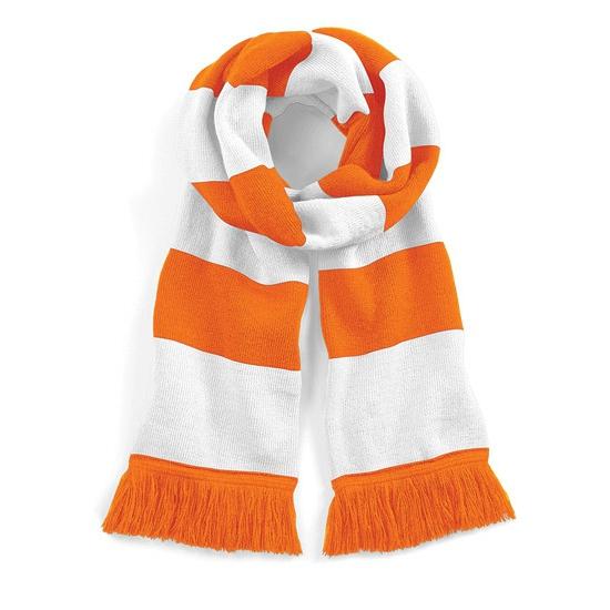 Beechfield retro sjaal oranje/wit