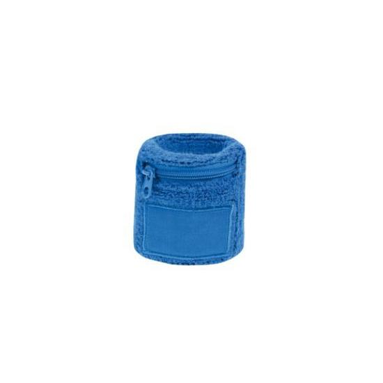 Blauw zweetbandje met rits