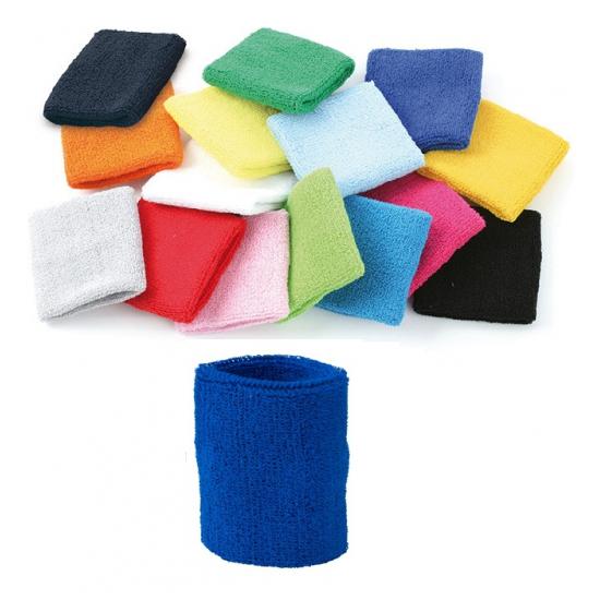 Blauw zweetbandje voor de pols