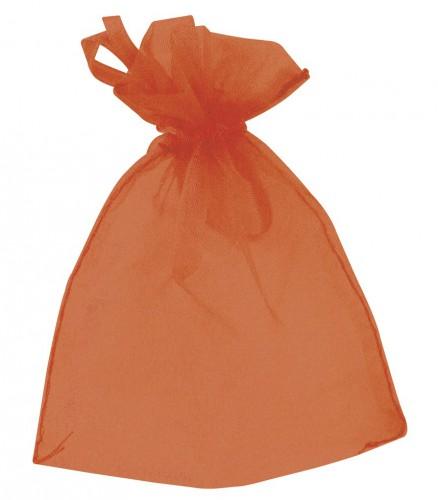 Cadeau zakjes oranje van organza