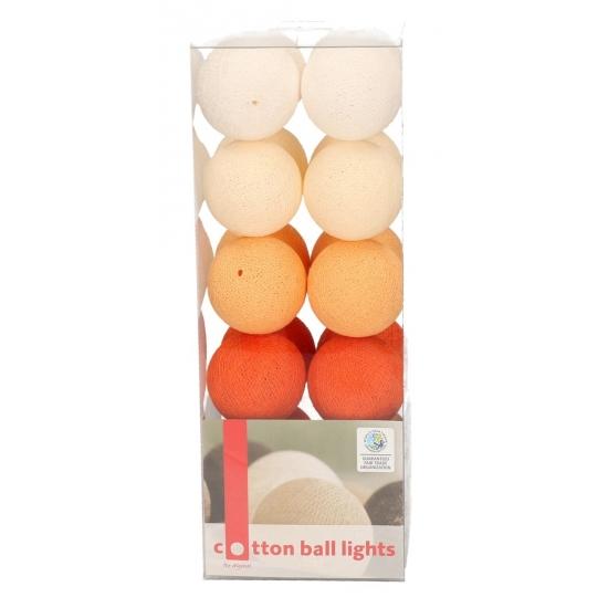 Cotton Balls oranje lichtsnoer 5.28 meter