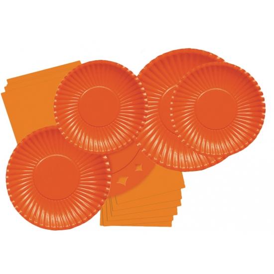 Feestartikelen borden oranje 10 stuks