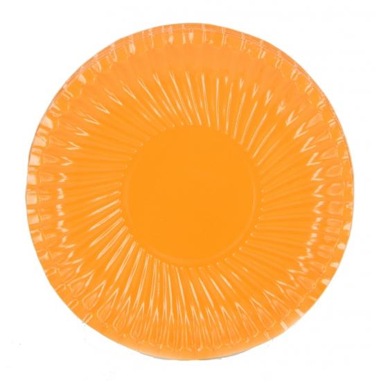 Feestartikelen borden oranje 18 cm