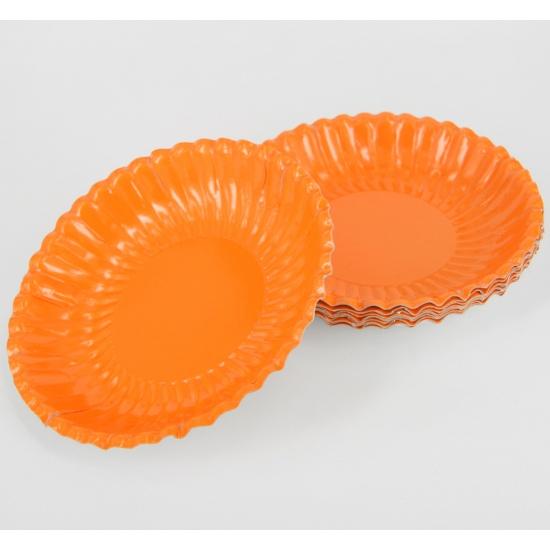 Feestschaaltjes oranje 10 stuks