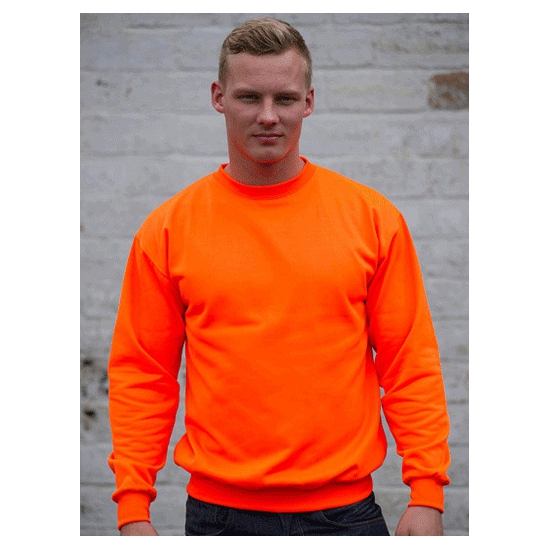 Fel oranje sweater for heren