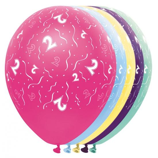 Gekleurde helium ballonnen 2 jaar