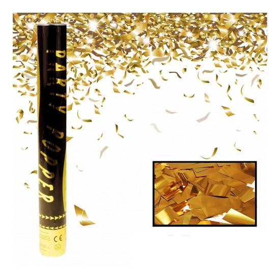 Gouden confetti kanonnen 40 cm