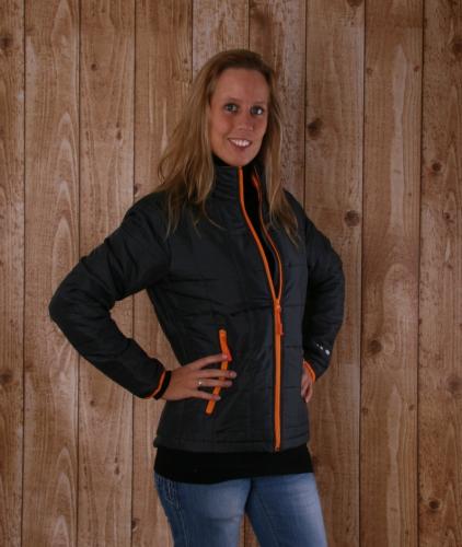 Grijs en oranje dames jasje light weight