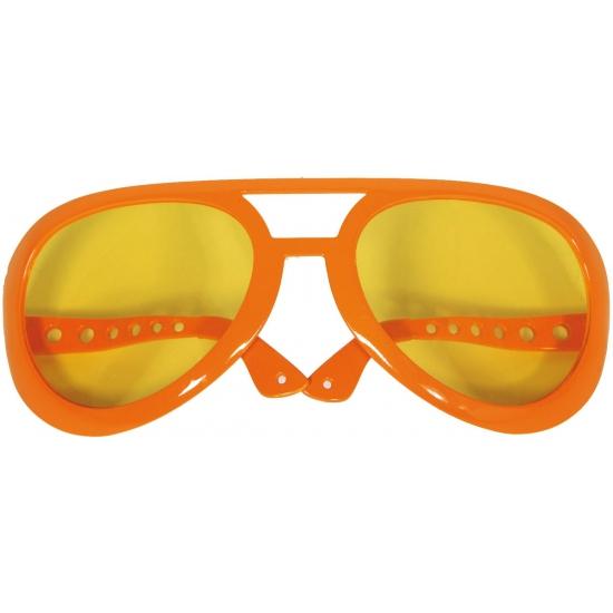 Grote partybrillen in oranje kleur