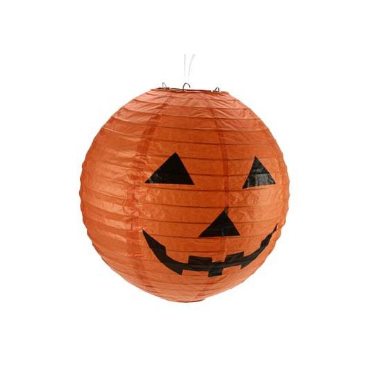 Halloween lantaarn oranje 30 cm