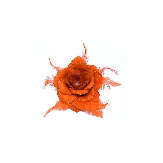 Hawaii accessoire oranje bloem