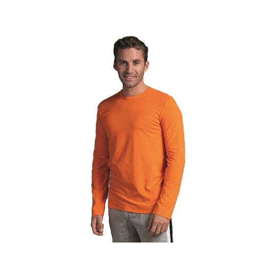 Heren shirt oranje long sleeve