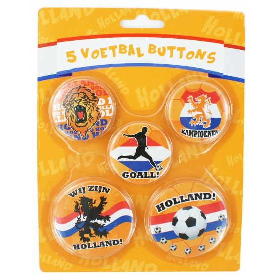 Holland supporters buttons