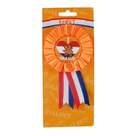 Holland supporters rozet I Love Oranje