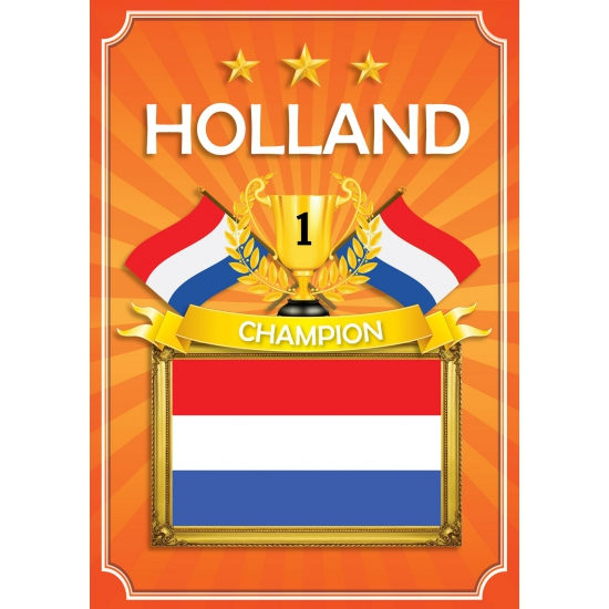 Holland thema deur poster