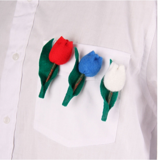 Holland tulp broches rood wit blauw
