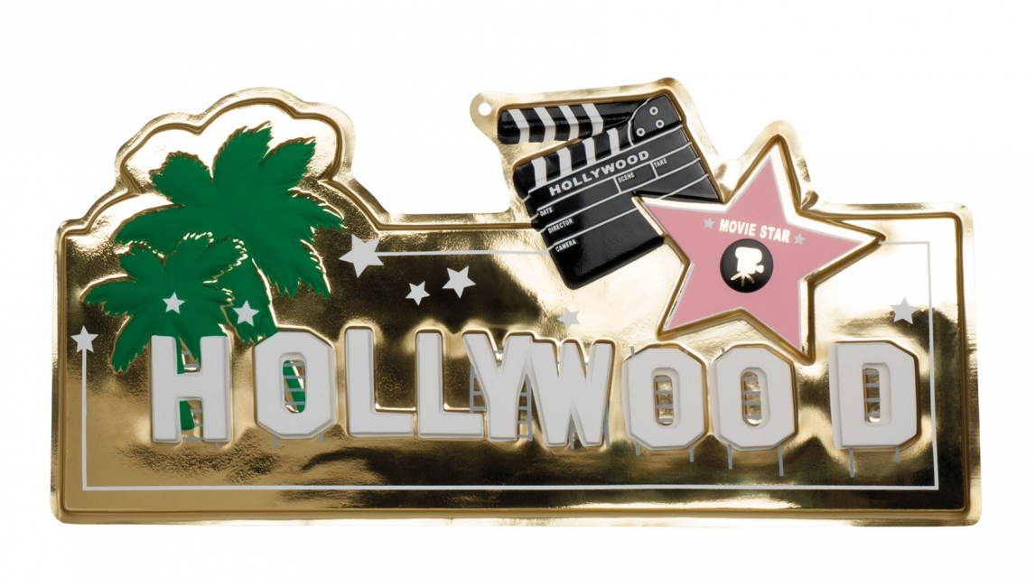 Hollywood muurplaat 28 x 60 cm