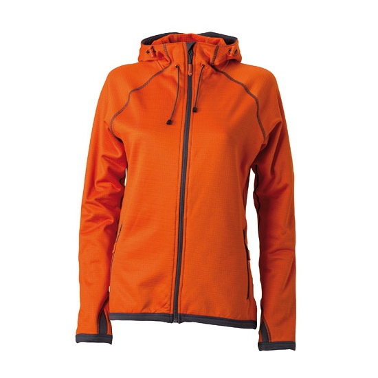 James & Nicholson fleece vest oranje voor dames