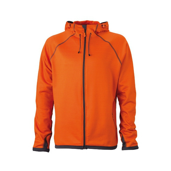 James & Nicholson fleece vest oranje voor heren