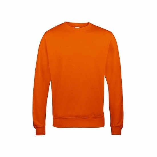 Just Hoods sweater oranje voor heren