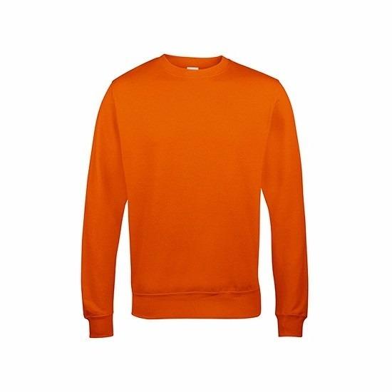 Just Hoods sweater oranje voor heren