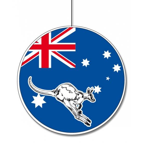 Kartonnen decoratie Australie 28 cm