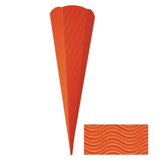 Kartonnen schoolzak oranje 68 cm