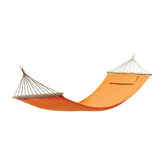 Katoenen hangmat in het oranje