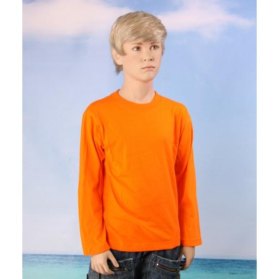 Kinder shirt lange mouw oranje