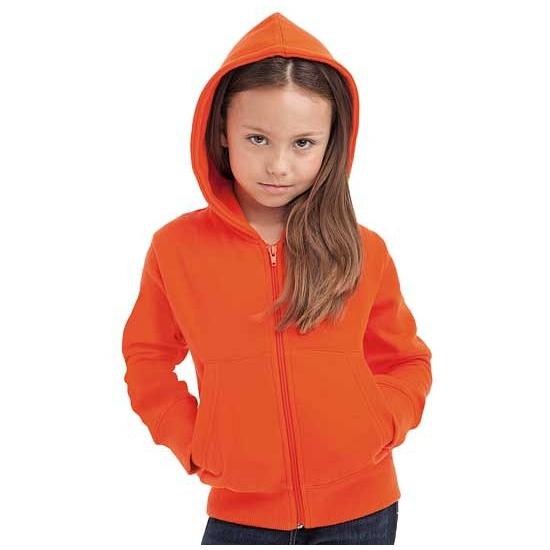 Kindervest met capuchon oranje
