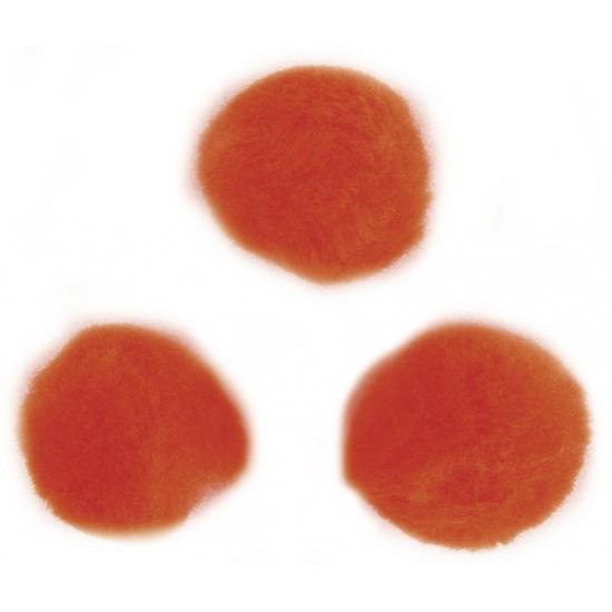 Knutsel pompons 15 mm oranje