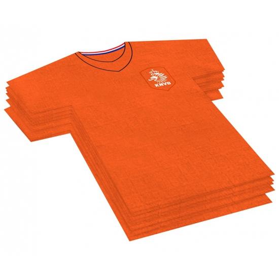 KNVB servet in t shirt vorm