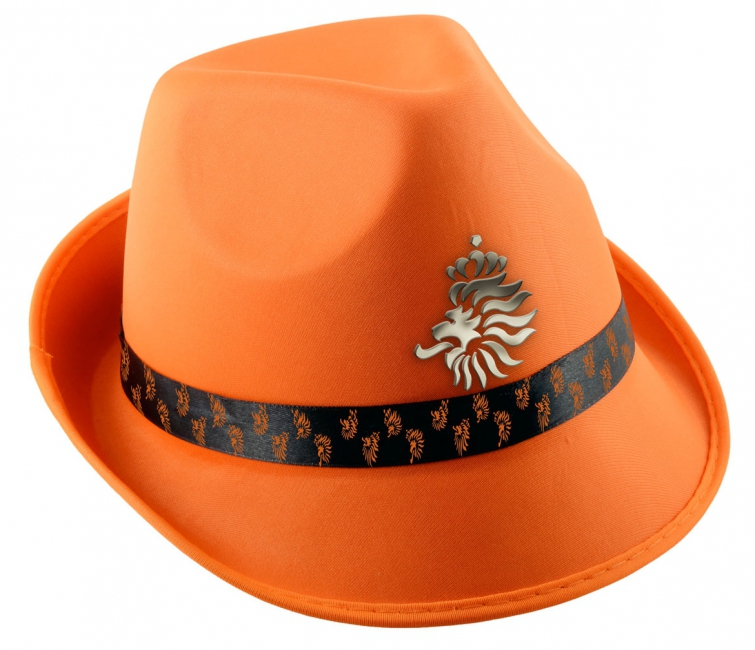 KNVB trilby hoedje oranje