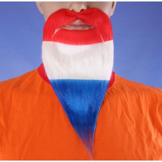 Koningsdag baarden rood/wit/blauw