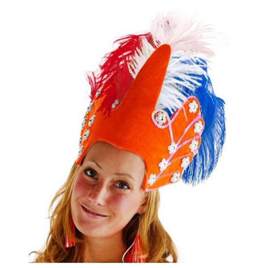 Koningsdag hoofdtooi oranje