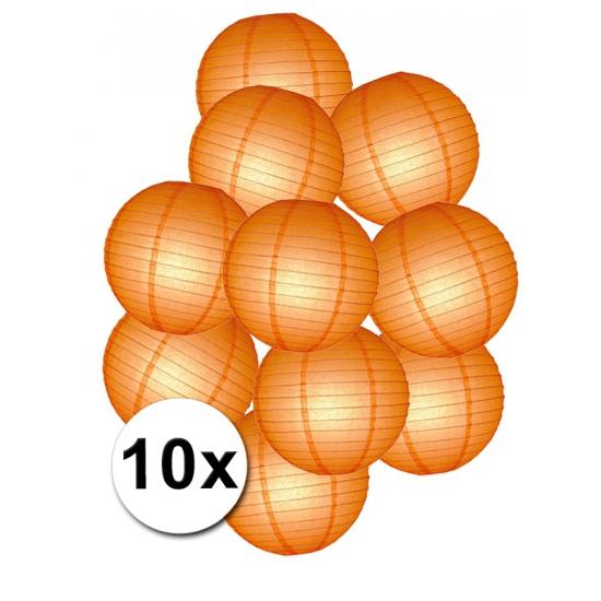 Lampionnen versiering set oranje