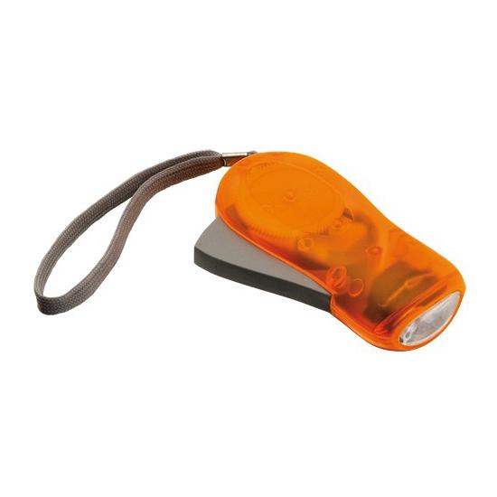 LED zaklamp knijpkat 10.5 x 5 x 2 cm oranje