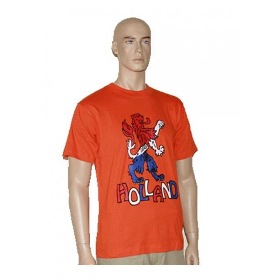 Leeuw Holland op oranje t shirt
