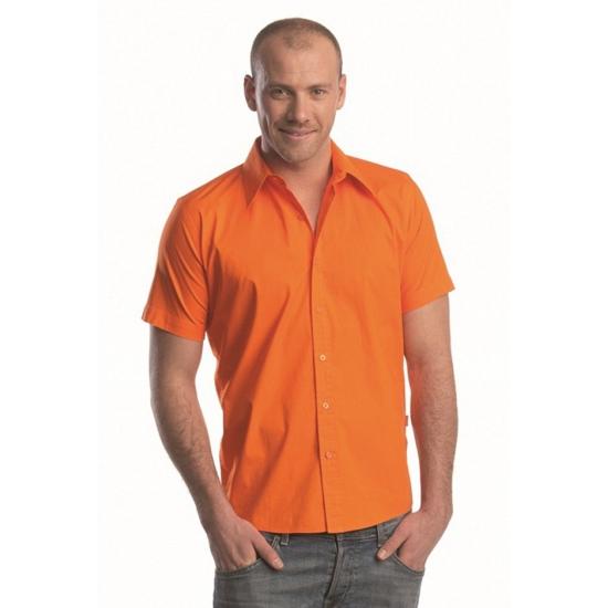 Lemon&Soda overhemden voor heren oranje