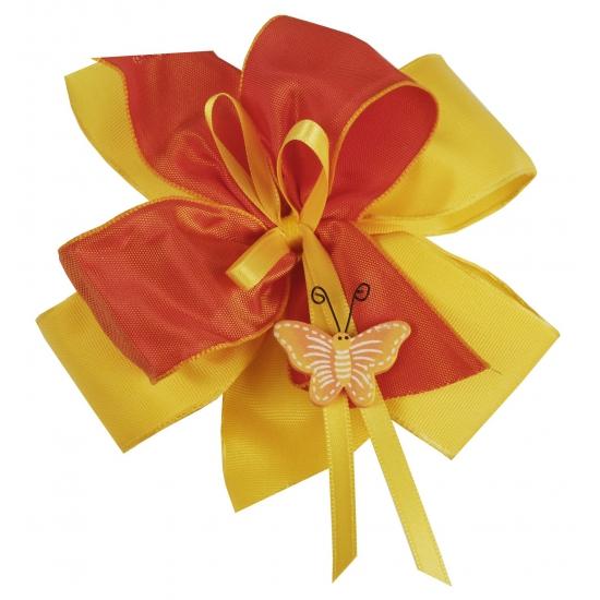 Luxe cadeaustrik geel / oranje