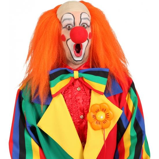 Luxe oranje clownspruik