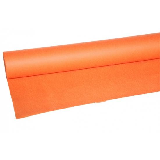 Luxe oranje tafelkleed van vilt