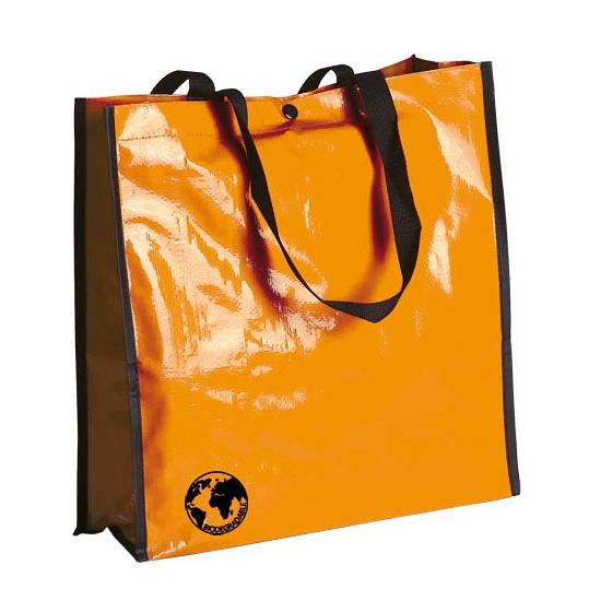 Milieuvriendelijke oranje boodschappentas