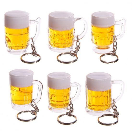 Mini bierpul sleutelhangertjes
