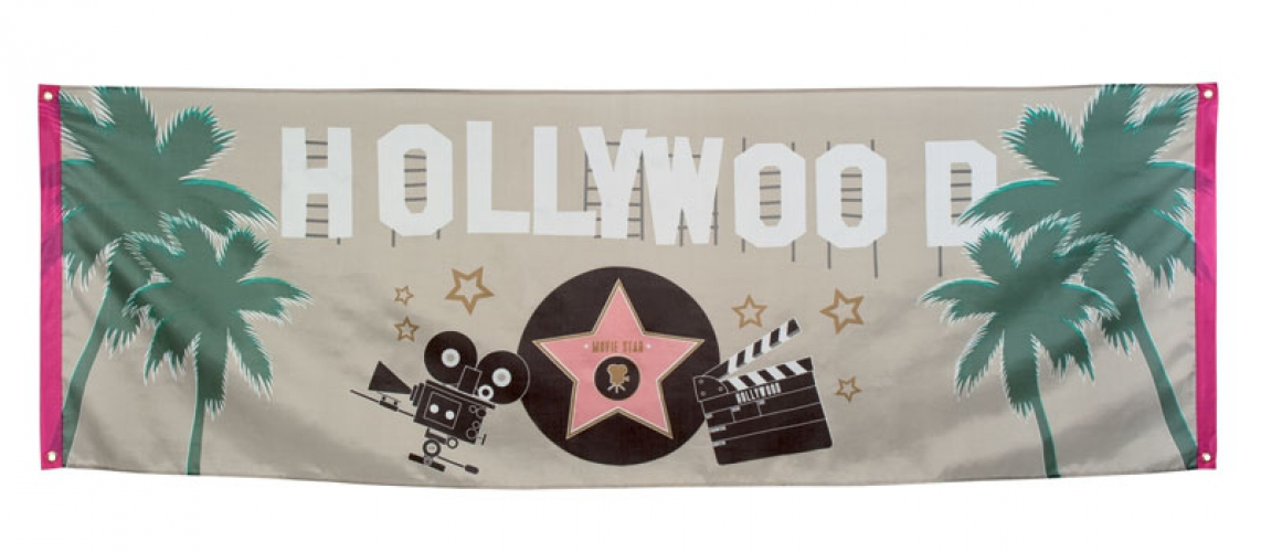 Muurdecoratie Hollywood banier 74 x 220 cm