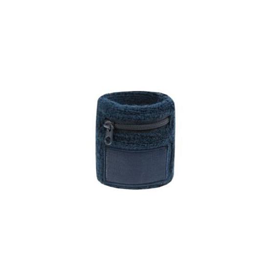Navy blauw zweetbandje met rits